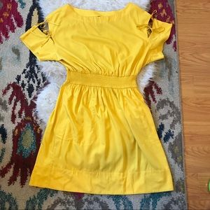 6694e55d1a5e Anthropologie Dresses - Anthropologie Tracy Reese Ivetta yellow dress XL